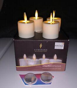 Luminara LED Tea Light Candles Flicker Flame Moving NEW BATTERIES, plus 2 EXTRA