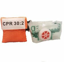 20 Orange CPR Face Shield Mask in Pocket Keychain