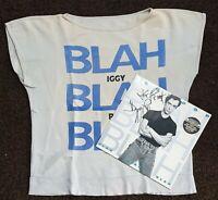 Iggy Pop shirt/ SIGNED LP !!! 1986 Blah Blah Blah vintage tour punk ULTRA RaRE !