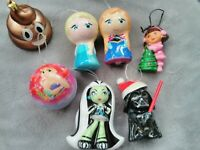 Pre-owned lot of MONSTER HIGH Dora Star Wars Emoji Frozen CHRISTMAS ORNAMENTS