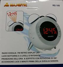 Radio sveglia digitale FM grande display LCD PROIEZIONE DELL'ORA A SOFFITTO PLL