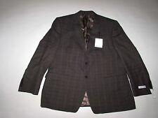 Calvin Klein Men's Slim Fit Blazer Jacket Size 46 Short NWT Dark Gray 46R Wool