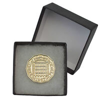 BOXED POLISHED BRASS THREE PENCE BIRTHDAY COIN CHOOSE YOUR YEAR 1937 TO 1967