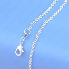"""5PCS 18 inch 925 Sterling silver plating """"Pearl Cross"""" Chain Necklaces"""