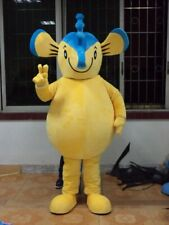 Halloween Blue Yellow Seahorse Hippocampus Mascot Costume Party Clothing Adults