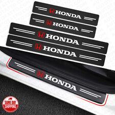 4x Honda Car Door Plate Sill Scuff Cover Anti Scratch 3d Decal Sticker Protector Fits 1991 Honda Civic