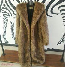 Mens Fur Parkas Thicken Coat Long Jacket Lapel Winter Outwear Fur Warm Overcoat