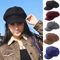 Unisex Classic Winter Warm Wool French Beret Tam Art Basque Berets Slouch Hat