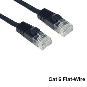 Kentek 35' CAT6 UTP Flat-Wire Patch Cable 32 AWG UltraFlat Ethernet RJ45 Network
