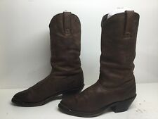 WOMENS UNBRANDED TOE RAND COWBOY LEATHER BROWN BOOTS SIZE 7.5 M