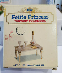 IDEAL Petite Princess Fantasy Doll Furniture 4431-3 100 Palace Table Set