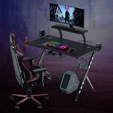"2 Layers 41"" Gaming Desk Pc Computer Table Ergonomic E-sports Gamer Home Office"