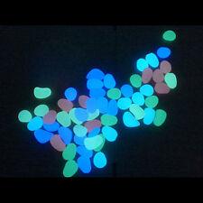 10 Stück Aquarium Terrarium Deko leuchtend Kiesel Stein Dekor Für Fish Tank