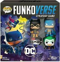 Funko Pop! Funkoverse Strategy Game DC #100 Base Set BATMAN JOKER HARLEY BATGIRL