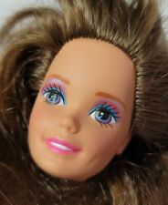 BARBIE DOLL HEAD ONLY FOR REPLACEMENT OR OOAK TOTALLY HAIR 1991 TERESA LONG HAIR