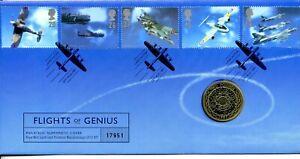 1997 RAF AIRCRAFT +UK £2 COIN GREAT BRITAIN ROYAL MINT/MAIL COVER VGC