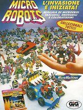 X0325 Micro Robots - MicroMachines - Gig - Pubblicità del 1993 - Vintage advert