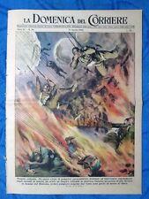 La Domenica del Corriere 21 agosto 1949 Pompieri paracadutisti -Napoli - Venezia