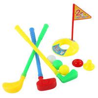 Kids Golf Set Plastic Mini Putter Club Caddy Balls Summer Fun Play Sports Game