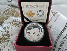 2014 Canada $20 Cougar: Atop a Mountain - 1 oz. Pure Silver Proof Coin