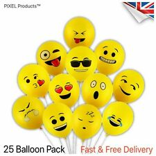 Emoji Face Latex Balloons (25pc) Party Bag supplies, fillers Favours, Loot