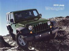 2010 Jeep Wrangler Limited Sport Sahara Rubicon RHD Dealer Sales Brochure