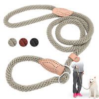 Adjustable Rope Pet P-Leash Dog Training British Style Slip Lead Leash & Collar
