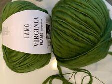 800g Wolle Lang Yarns Wool VIRGINIA FLAME Schurwolle Merino Gras Grün Tanne Moos