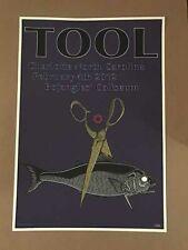 Tool Charlotte North Carolina 2/4/12 Bojangles' Coliseum Mega Rare Poster #ed