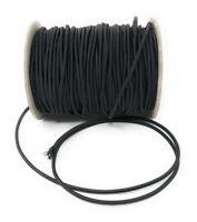 Corde Elastique / Cordon Elastique 2,5mm ou 3mm Noir - Vendu par 5 Mètres