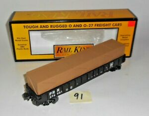 MINT 30-7212 MTH RAIL KING O / 027 PENNSYLVANIA RR GONDOLA WITH CRATES 91