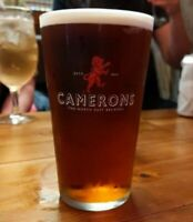 2 x Camerons Pint Glasses 20oz Brand New 100% CE Stamped Genuine Official Bar
