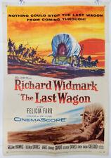 THE LAST WAGON - 1956 ORIGINAL MOVIE POSTER - RICHARD WIDMARK