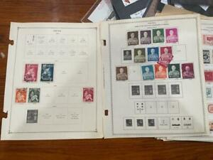 Small USED China Taiwan Stamps Collection 12 Pages