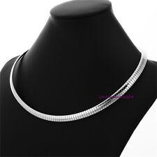 Elegante Schlangenkette Collier Omega Kette Halskette Edelstahl Damen Halsreif