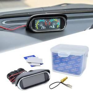 2 in 1 Car Water Temp Voltmeter Voltage Gauge Sensor 12V/24V LCD UniversalAU
