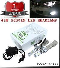2x 48W CREE LED Headlight Kit Bulbs Lamp 6000K White H11 H9 Low Beam High Power