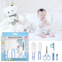 6/8/10Pcs Baby Newborn Health Care Set Nail Scissors Hair Brush  Grooming Kit