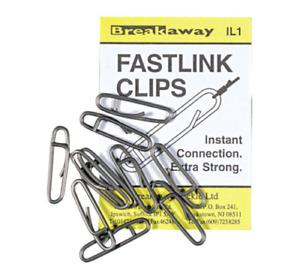Pack of 10 NEW Breakaway Sea Fishing Fastlink/ Fast Link/Links Fastlinks Clips