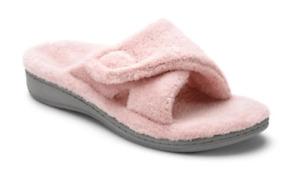 Vionic Relax Pink Terry Slide Slipper Sandal Women's sizes 5-12 NEW!!!