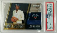 Zion Williamson 2019 Panini Prizm Luck Of The Lottery #1 RC Rookie PSA 8 hot rc
