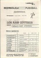 02.06.1990 BSG Lok RAW Cottbus - Schwarz-Weiß Spandau