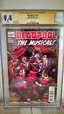Deadpool #49.1 (The Musical) CGC 9.4 AUTOGRAPHED by FABIAN NICIEZA