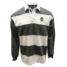 More details for guinness pewter/cream metal badge l/s rugby shirt (s-xxxl)