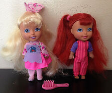 2002 Kid Kore 5 inch Doll~Dolls~Lot of 2~With original Clothes~Big Head Figures