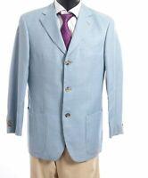 HUGO BOSS Sakko Jacket Venus Gr.46 blau meliert Einreiher 3-Knopf -S273
