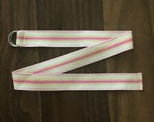 "Janie & Jack Sunny Resort Pink Yellow Stripe Ribbon Belt 29"" Buckle Girl 3 4 5 6"