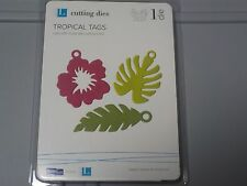 QUICKUTZ LIFESTYLE TROPICAL TAGS 4X4 CUTTING DIES DR0140 NEW NIP A63