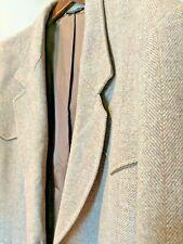 Pioneer Wear Mens 46 Tan Brown 2 Button Single Vent Wool Blazer Jacket West USA
