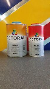 Octoral C401 Clearcoat, 2K Lacquer,1.5LT Premium Polyurethane Kit, VOC Compliant
